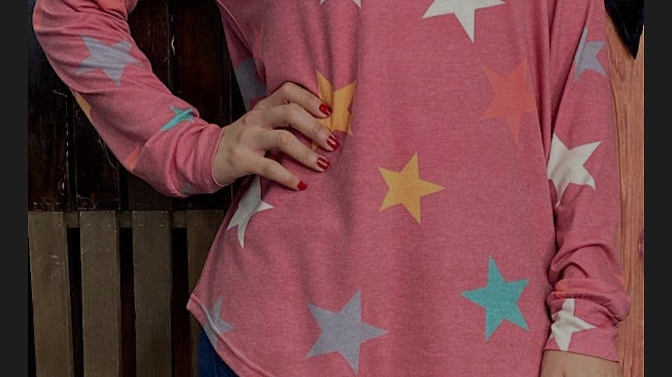Pink Star Hoodie