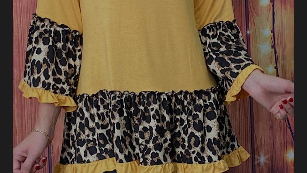 Yellow 3/4 Leopard