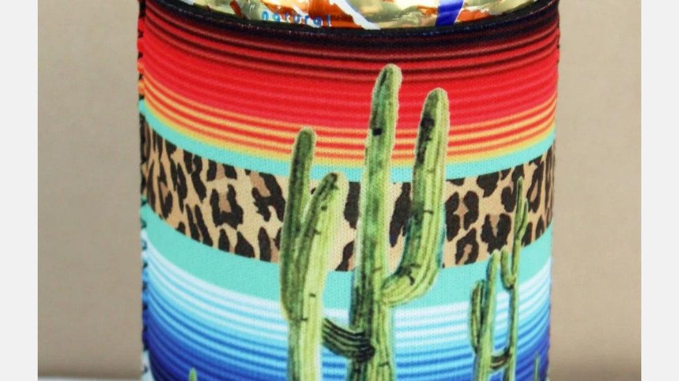 Cactus Serape Can Koozie