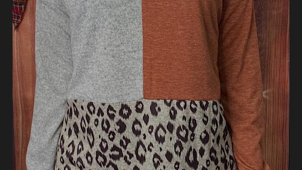 Brown/ Grey Leopard