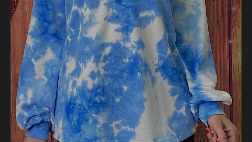 Blue Tie Dye Bubble Sleeve