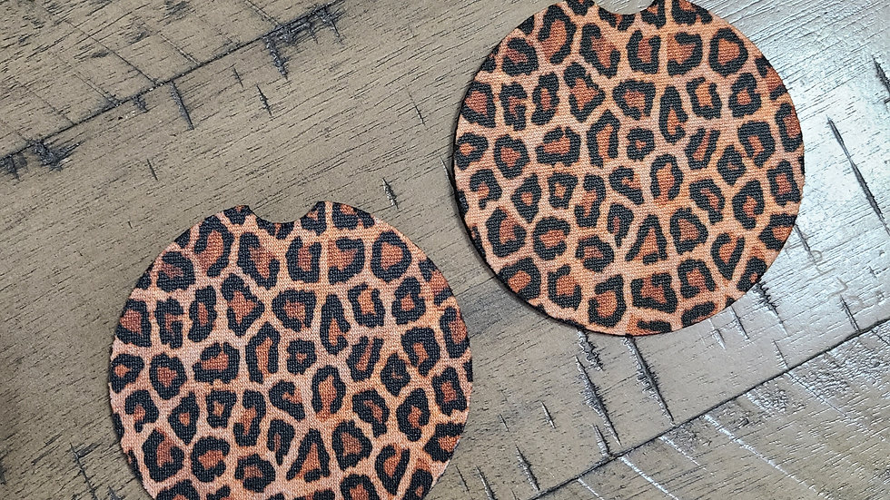 Leopard Car Coasters