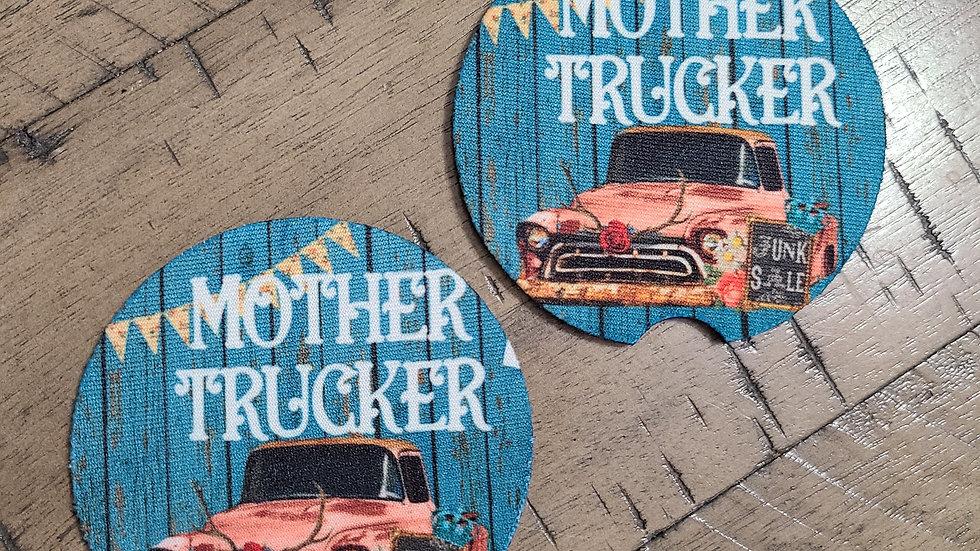 Mother Trucker Car Coasters
