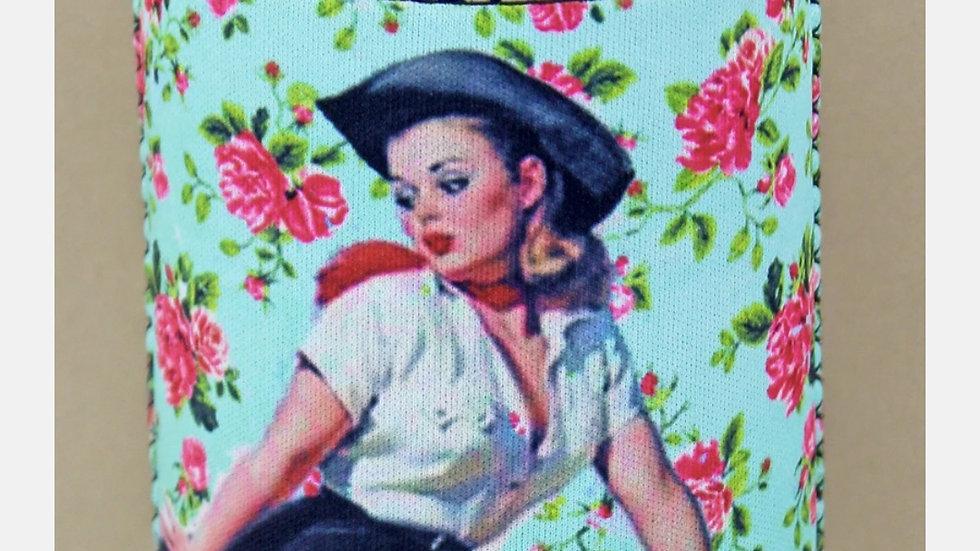 Pinup Cowgirl Can Koozie