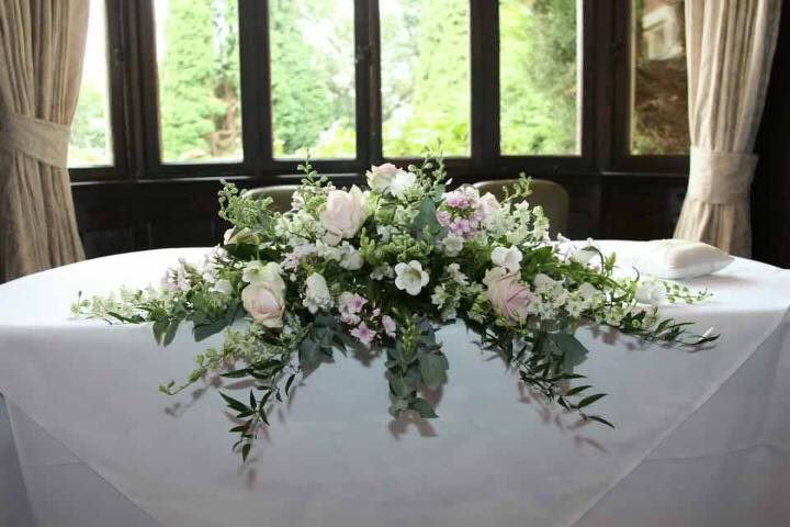 Ceremony Table Arrangement