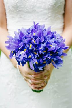 Hand Tied Bouquet of Iris
