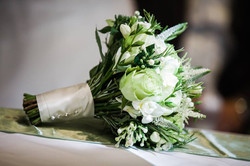 Hand tied White Rose Bouquet