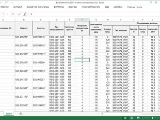 RadioPlanner 2.1_190516 Импорт/экспорт параметров БС в таблицу Excel