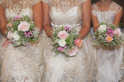 Bridesmaids hand tied bouquets