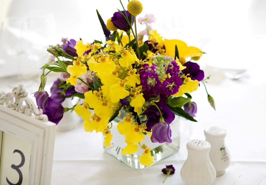 Tank Vase Table Arrangement
