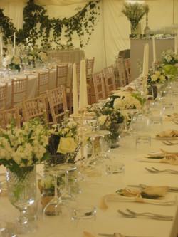 Marquee Table Arrangements