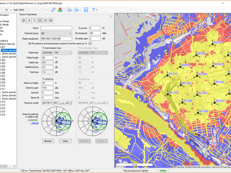 RadioPlanner 2.1. Mobile and Broadcast Networks Planning