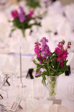 Stocks in Cut Glass Vases