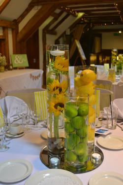 Cylinder Vase Table Arrangement