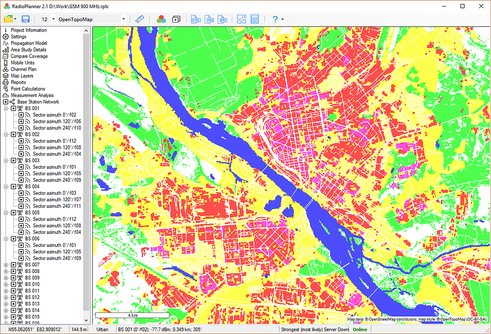 RadioPlanner clutter map