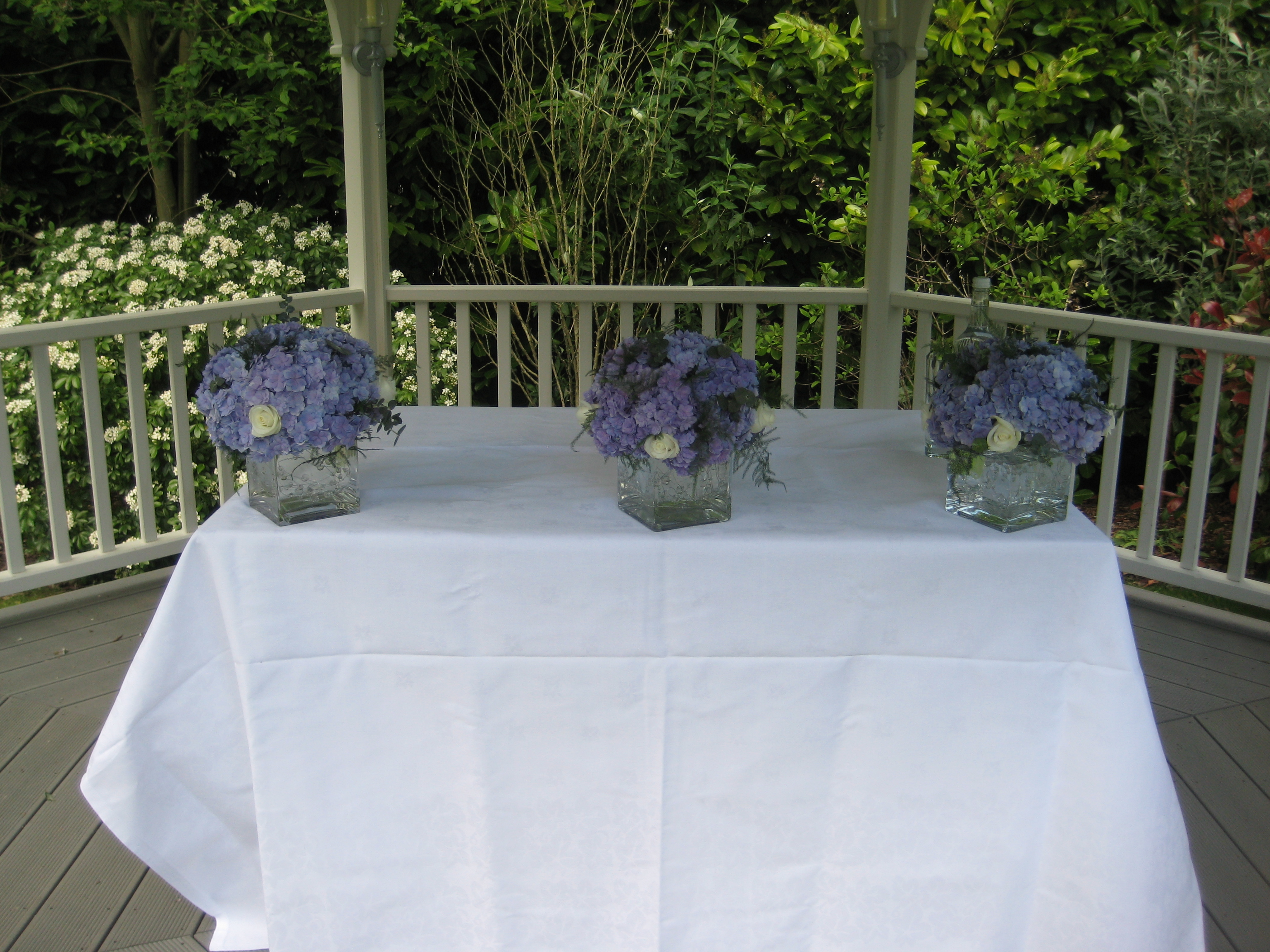 Ceremony Table Arrangements
