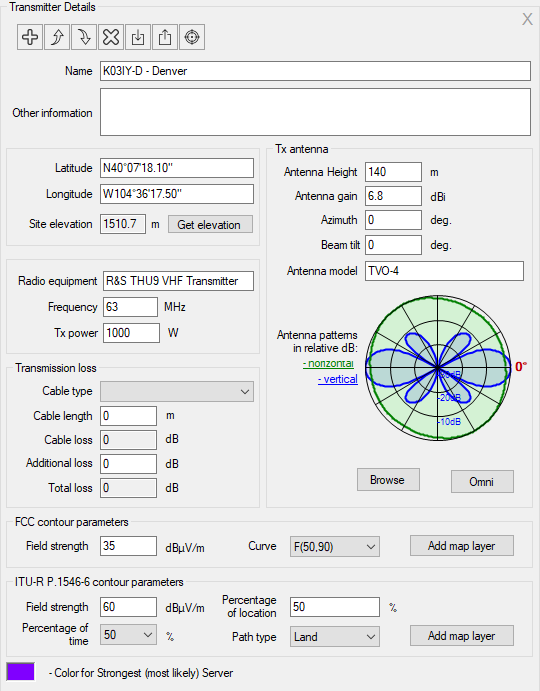 RadioPlanner User Manual. Figure 44. Tra