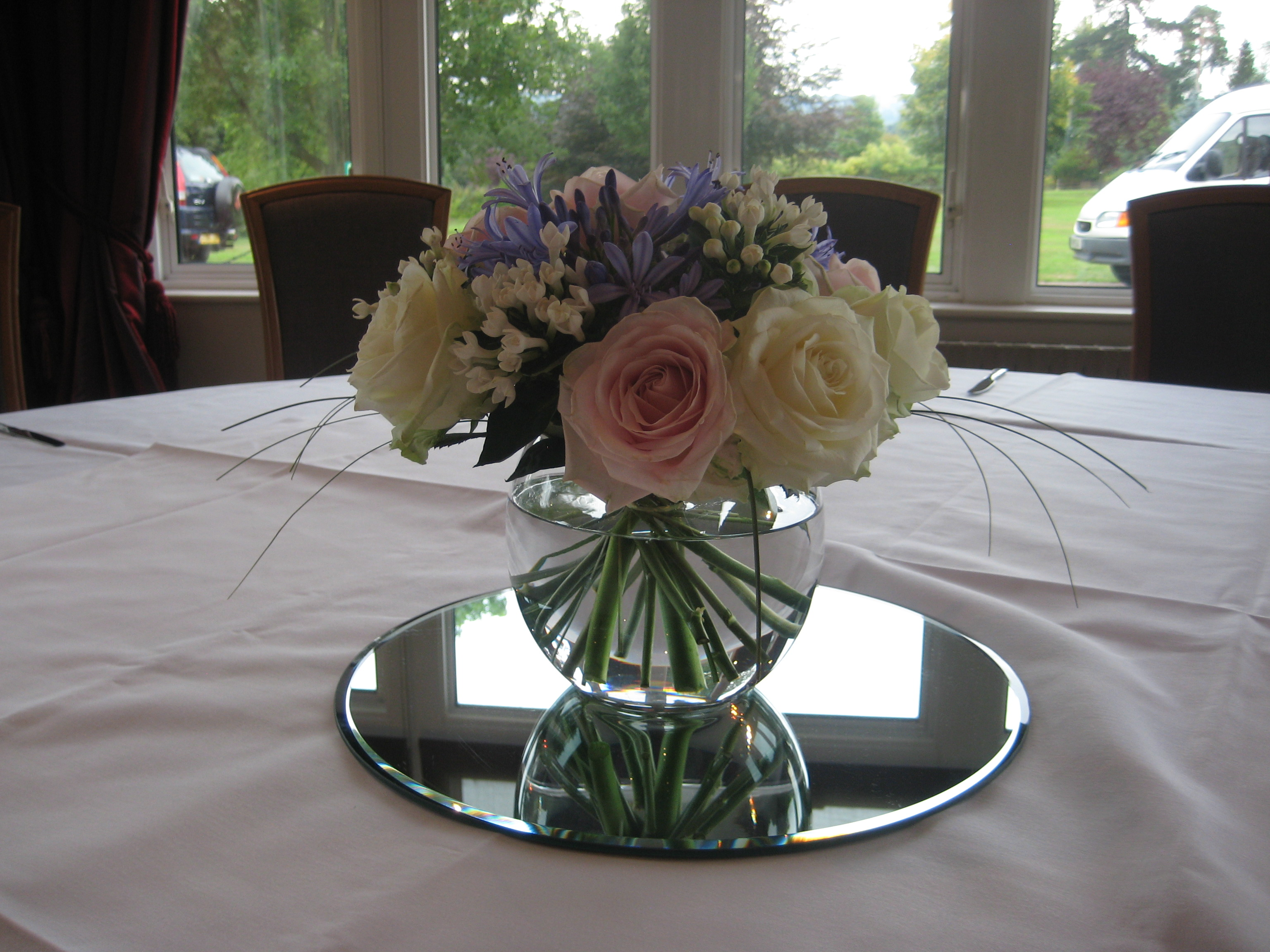Goldfish Bowl Table Arrangement
