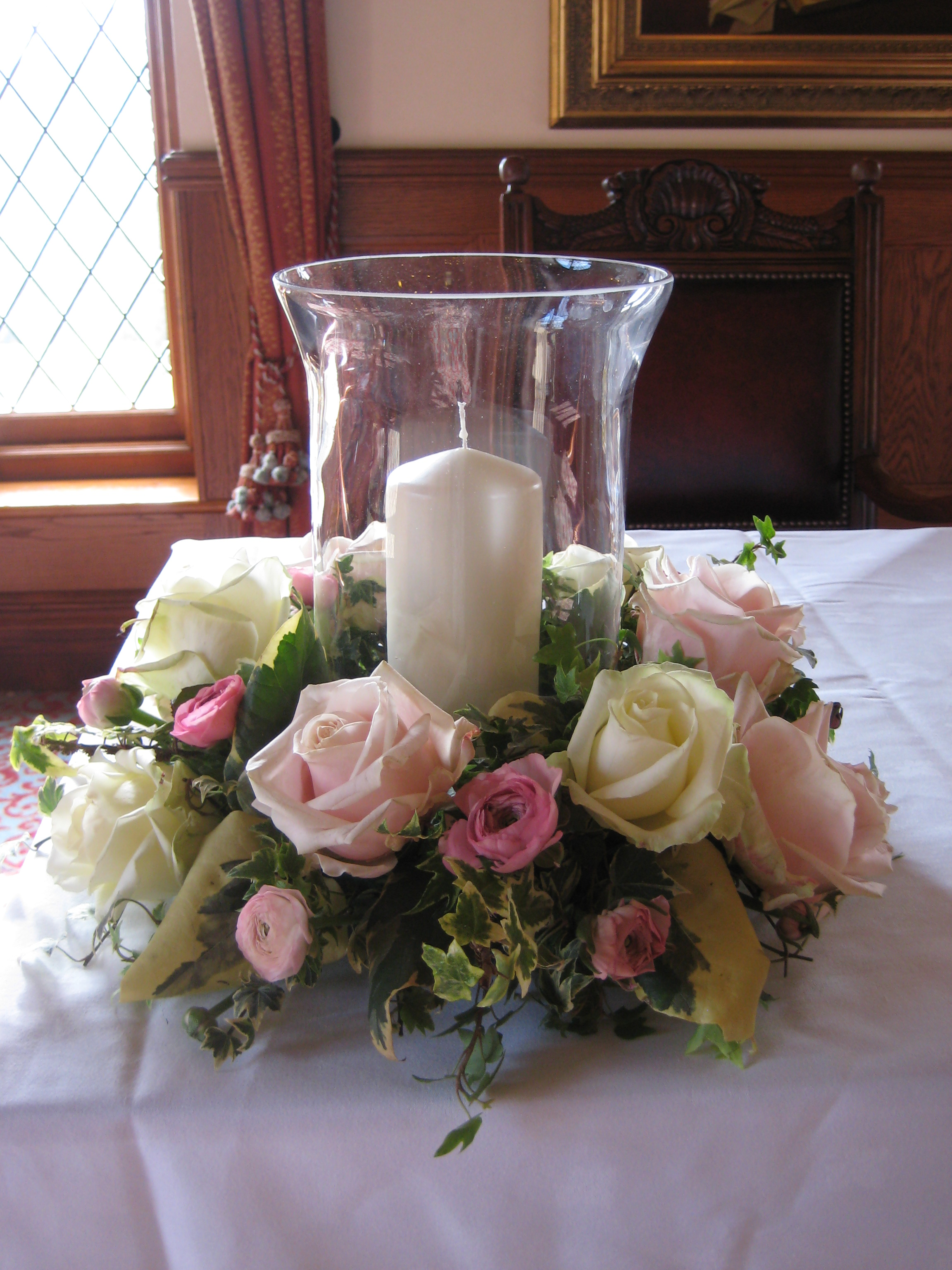 Hurricanne Vase Table Arrangement