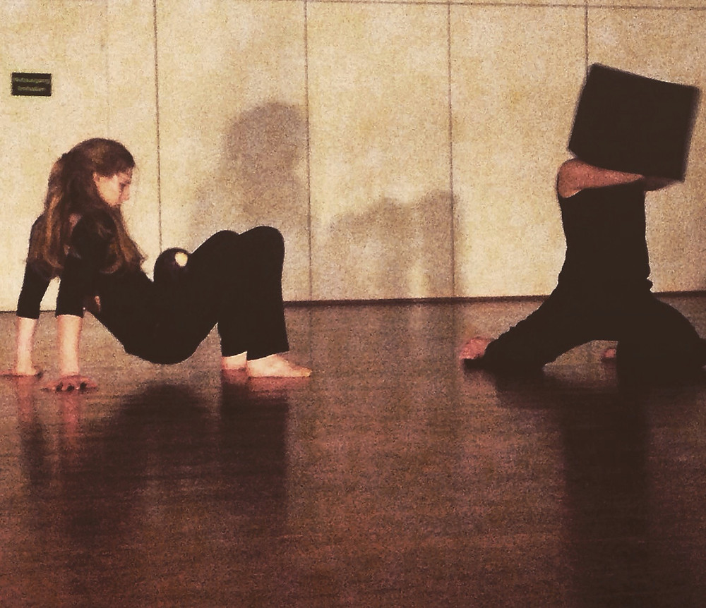 From an improvisational performance of two solos with two objects in one space.  Photo Credit: Irina Bürgi