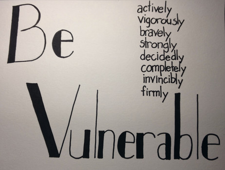 Dancing with fear: learning to live vulnerably