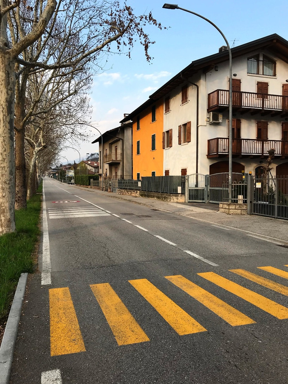 A street in the little town of Marco in Trento, Italy