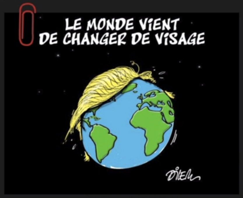 """The face of the world has just changed."" -Algerian Cartoon"