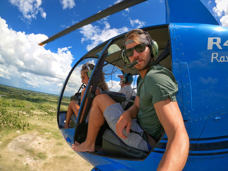 Flying over the Okavango Delta and getting lost in the rain