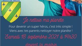 Journée mondiale du nettoyage de notre planète le 18 septembre 2021 à Nézel.