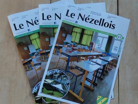 Le dernier numéro du Nézellois en disponible en mairie.
