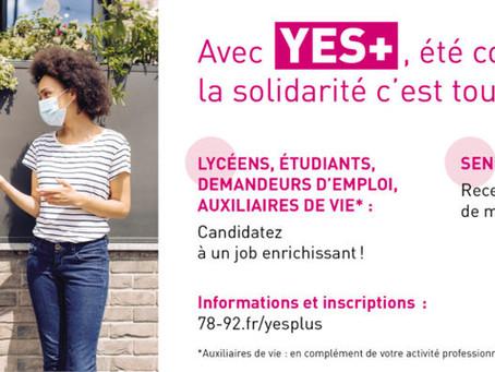 YES+ | les candidatures sont ouvertes pour l'été-hiver 2021