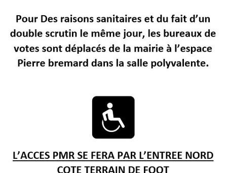 Elections |Accès des Personnes à mobilité réduite et localisation.