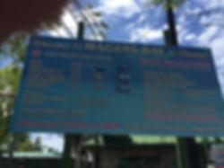 Magens Bay Sign