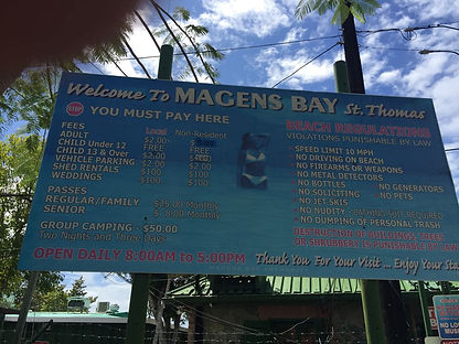 Magens Bay Sign