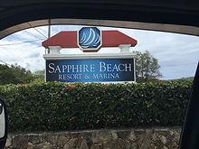 Sapphire Beach Resort Sign