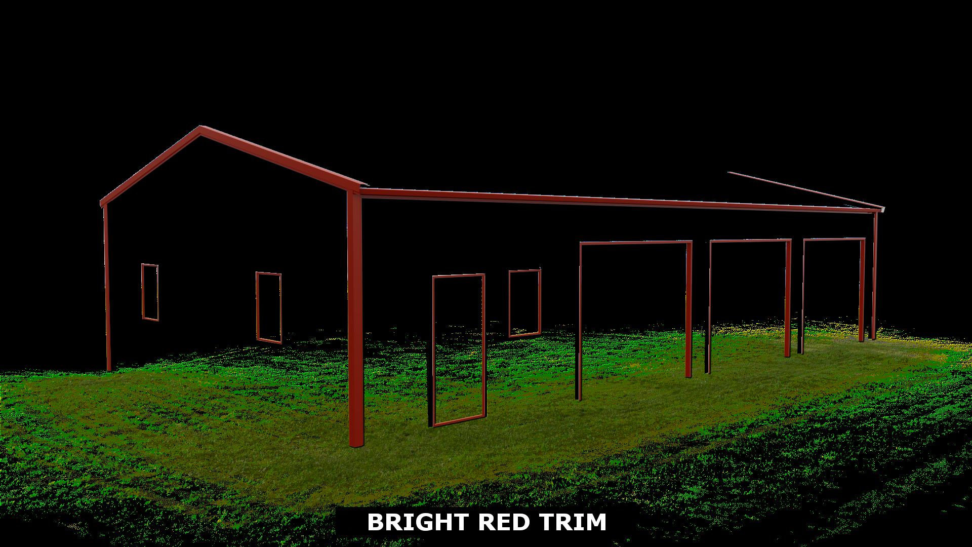 BRIGHT RED TRIM