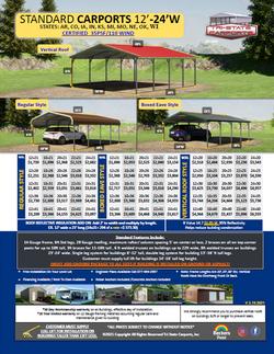 Standard Carports 12'-24'W 35 Psf 110 Wi