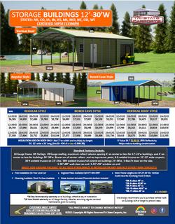 Storage Buildings 12'-30'w 50psf 115 win