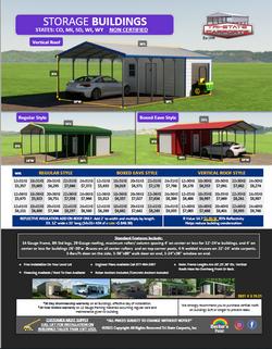 Storage Buildings 12'-30'W CO,MI Non Cer