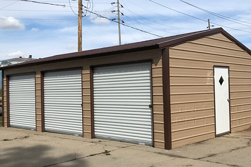 26'WX35'LX9'H FULLY ENCLOSED GARAGE