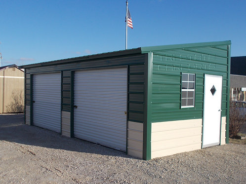 15'WX25'LX10&8'H FREE STANDING LEAN TO