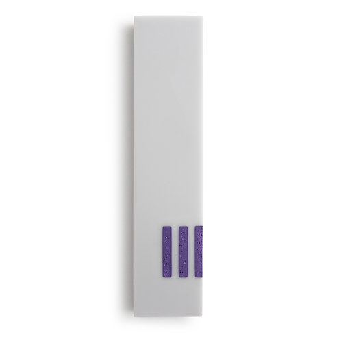 MEZUZAH | Gray Wide | (ש) Side - Purple