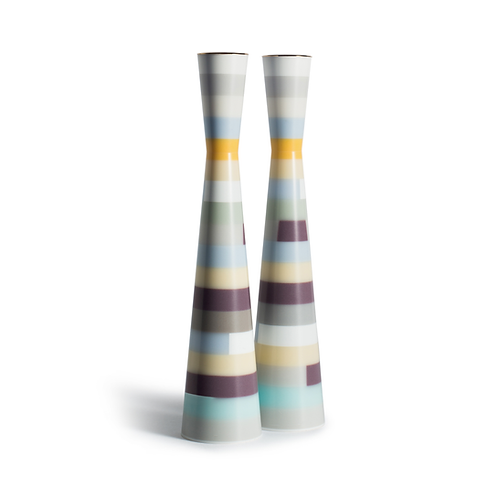 PAMOT - Purple Cubism - Corian Candle Holders
