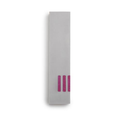 MEZUZAH | gris - large | (ש) côté - rose