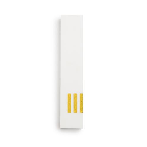 MEZUZAH | White Narrow | (ש) Side- Yellow