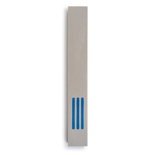 MEZUZAH | Large | Urban Gray | (ש) Middle -Blue