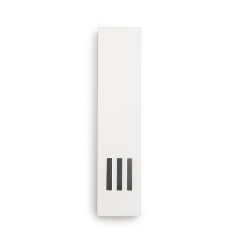 MEZUZAH | White Wide | (ש) Middle- Black
