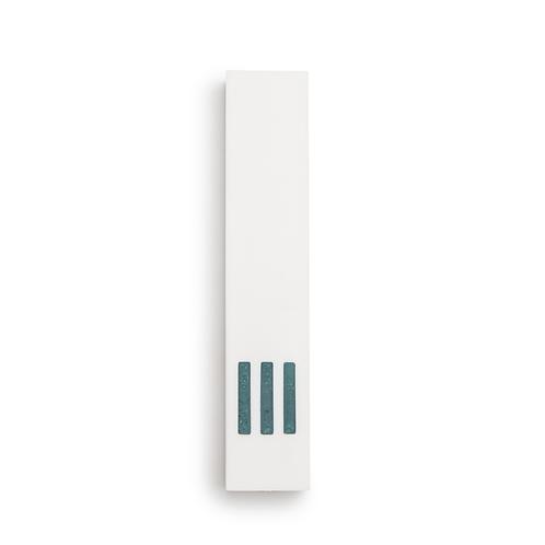 MEZUZAH | White Narrow | (ש) Middle- Turquoise