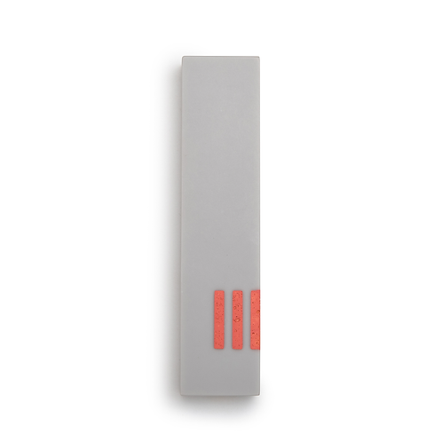 MEZUZAH | Gray Wide | (ש) Side - Orange