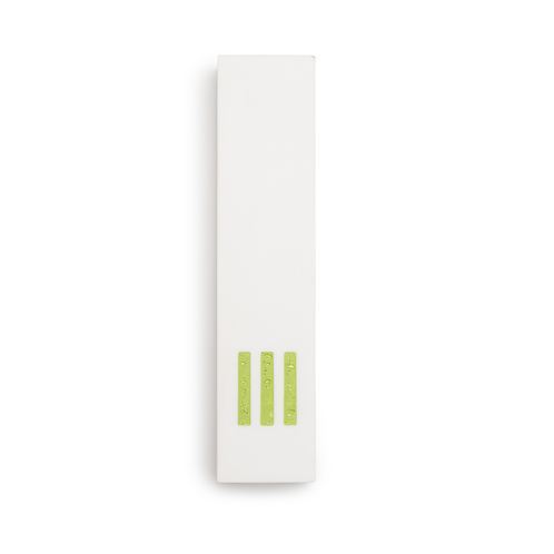 MEZUZAH | White Wide | (ש) Middle- Green